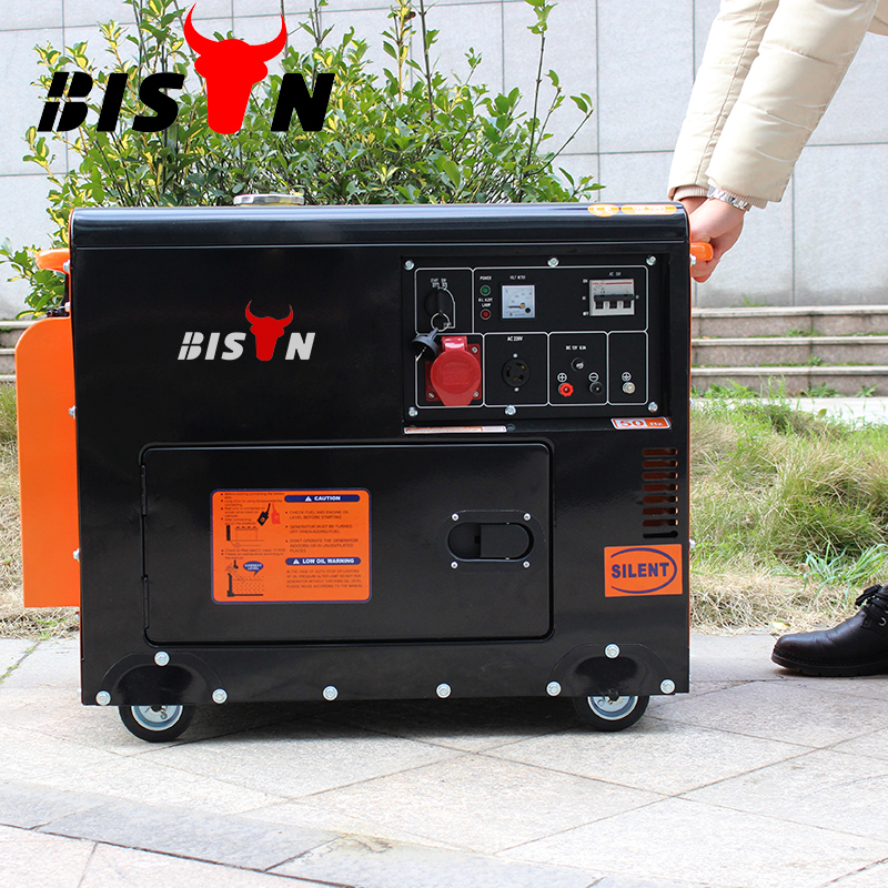 BISON Factory Price Hot Type 192F Single Phase Silent Recoil Start Diesle Generator Welding Machine