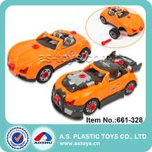 Assembled Racing Car Plastic Toys Sets for kids