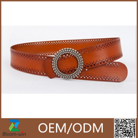 Personized hot sale cheap stitched belt women/PU belt for jeans wholesale