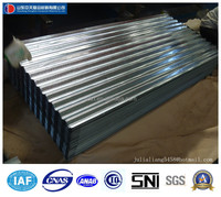 corrugated metal steel board for roofing and wall