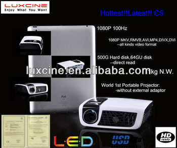 Newest! Hot seller! C5 video projector mobile phone