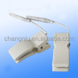 Ear clip electrode wire/cable connecting wire for digital therapy machine,tens machine,slimming massager for JER