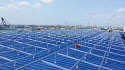 Rooftop triangle aluminum structure solar mounting system