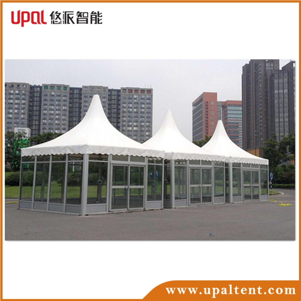 Factory price High quality low price party Fashion fireproof white PVC pagoda tent for sale