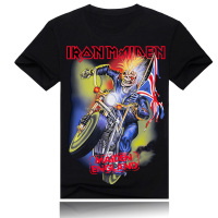 Iron maiden music band t shirt for men street wear