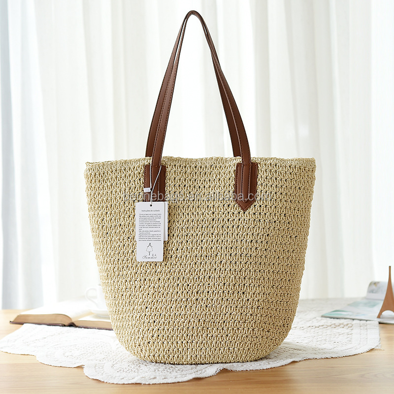 Wholesale Bulk Moroccan Straw Bag Beach Straw Tote Bag