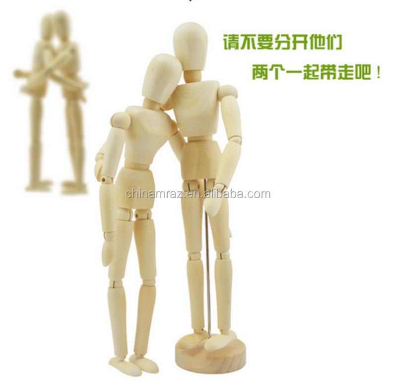 Alibaba wholesale natural wood artist fashion Male Manikin