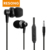 factory cheap earbuds stereo handsfree audiophone