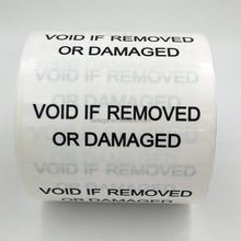 printable Anti-theft VOID Security Label sticker roll