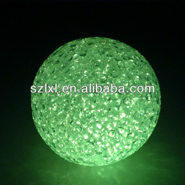 LED Crystal Ball Light-RGB - Christmas decorating/LED color changing glowing Orb
