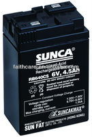 SUNCA Sealed Lead-Acid Rechargeable Battery RB640CS/6V4.5AH
