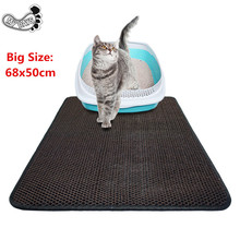 Big size 68x50cm Cat Litter Mat Extra Large, Kitty Mat Litter Catcher for Scatter Control with non-slip bottom,Soft and Durable