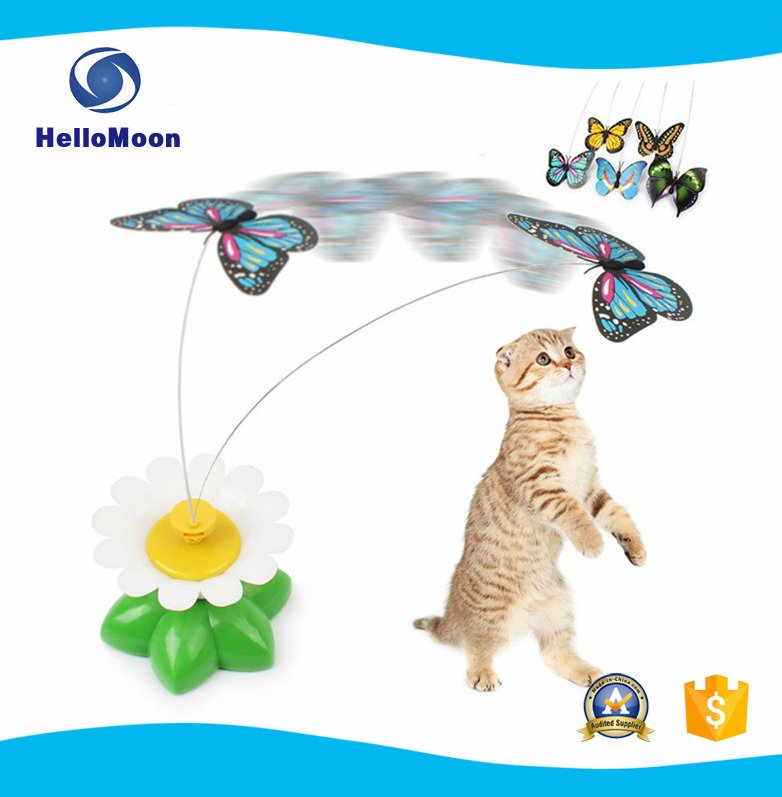 Electric Butterfly Interactive Puzzle Cat Toy