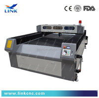 Jinan Link LXJ1325- 150W 0~3mm carbon steel Laser Cutting Machine with blade table
