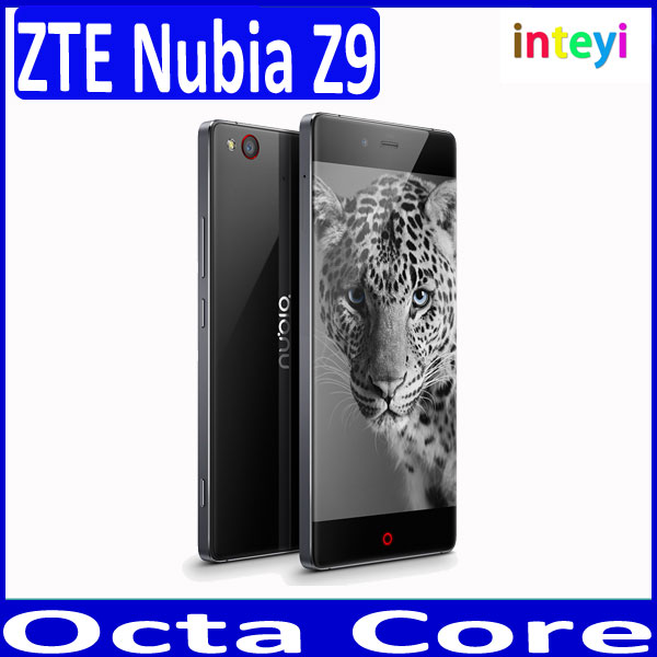 in stock ZTE Nubia Z9 Octa Core 4G LTE Mobile phone 5.2 Inch Android 5.0 NFC Smartphone 4K FHD Sanpdragon 810 3GB 32GB ROM 16MP