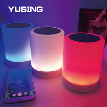 Phone Control RGB Speaker Bedside Light LED Touch Dimming Bluetooth Gift Table Lamp