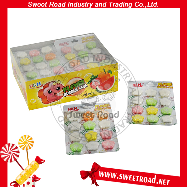 Natural Trick Chewing Gum Colorful Flower Fruit Flavor love is bubble gum