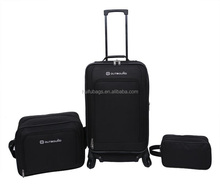 "New Arrival 3pc CTC 20"" Upright 15""Tote 9"" Kit 4 wheels trolley case and luggage promotional"