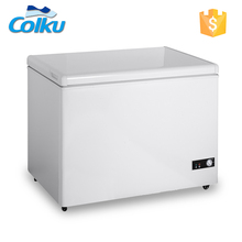 DC-250F Solid Door 250L Counter Top Small Deep Freezer For Sale