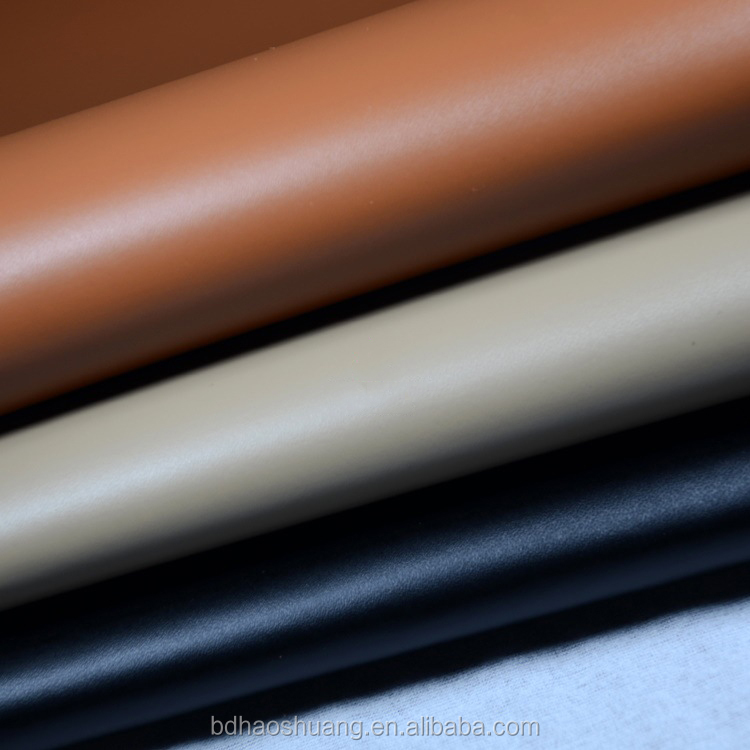 Smooth tabby grain pattern pvc synthetic artificial leather imitation leather