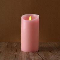 pink remote control smart living flameless wax led candles