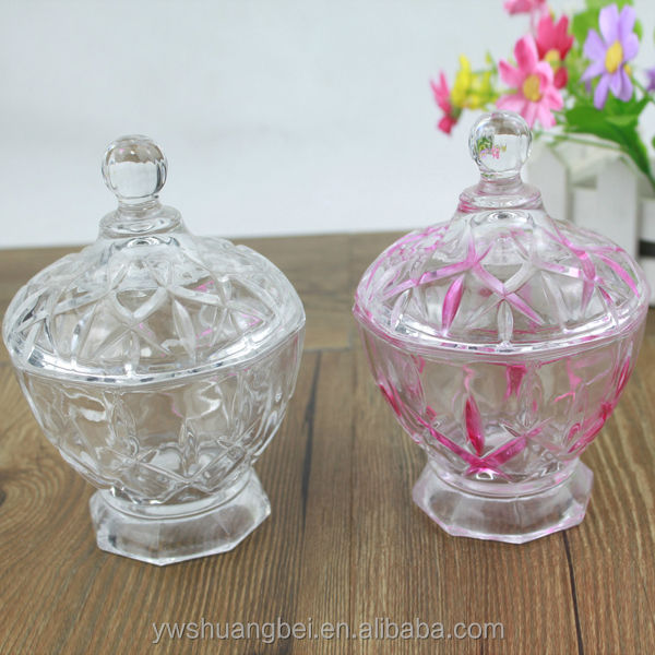 Cheap Small Candy Glass Storage Jar With Lid Wholesale glass candy jar