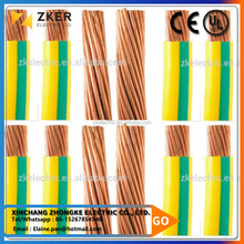 Factory price PVC insulated electrical wire/ ground cable wire copper for lightning system
