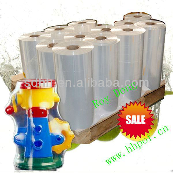Transparent polyolefin shrink plastic film