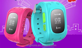 New kids gsm gps tracker watch mini gsm gprs tracker with Android and iOS APP, geofence alarm and long battery life