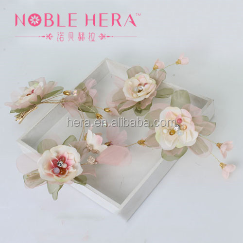 Chinese Hairpin Classical Silk Flowers Artificial Elegant Hair Pins Wedding 164TZ