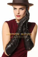 leather gloves long woman