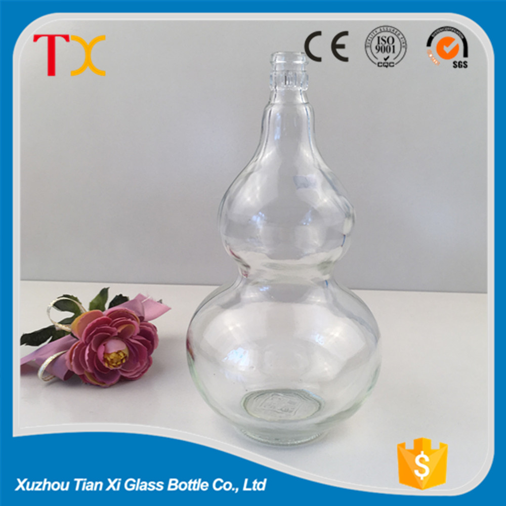 580ml chinese style glass liquor bottles wholesale