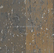 Environmental friendly cork wallpaper for hotel, soundproof wallpaper