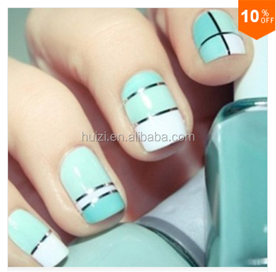 Huizi crystal nail decal stickers for girls