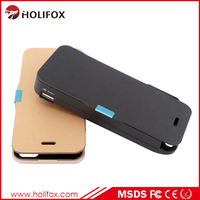 External Backup Battery Case For Iphone 5 5S For Iphone 5 Case Battery Silicon With Flip Cover