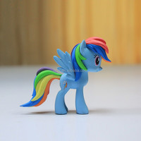 2015 Kids Baby 12 Colors horse Cartoon Dolls Lovely Boys Girls My Little Pony plastic Toys