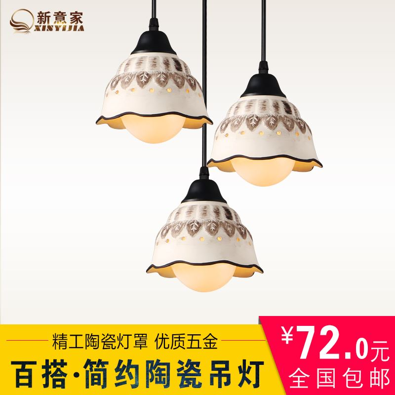 creative personality ceramic modern pendant lights for dinner room