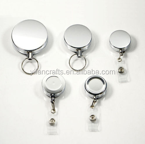 Factory directly Sell Metal Retractable Pull Chain Reel For ID Card Badge Holder