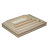 Shape/color customized high quality wooden serving tray