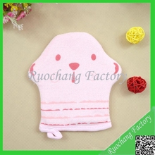 Healthy Colored Cotton Bath Gloves For Shower