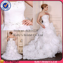 winsome stage strapless beading ruffle organza flowers skirt wedding dress patterns
