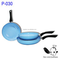 Hot sell stone coated nonstick ceramic marble fry pan in blue