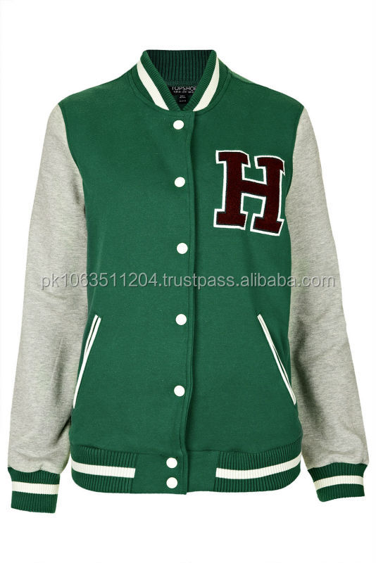 2014 Wholesale Custom Varsity Jacket, Leather Jacket for Men