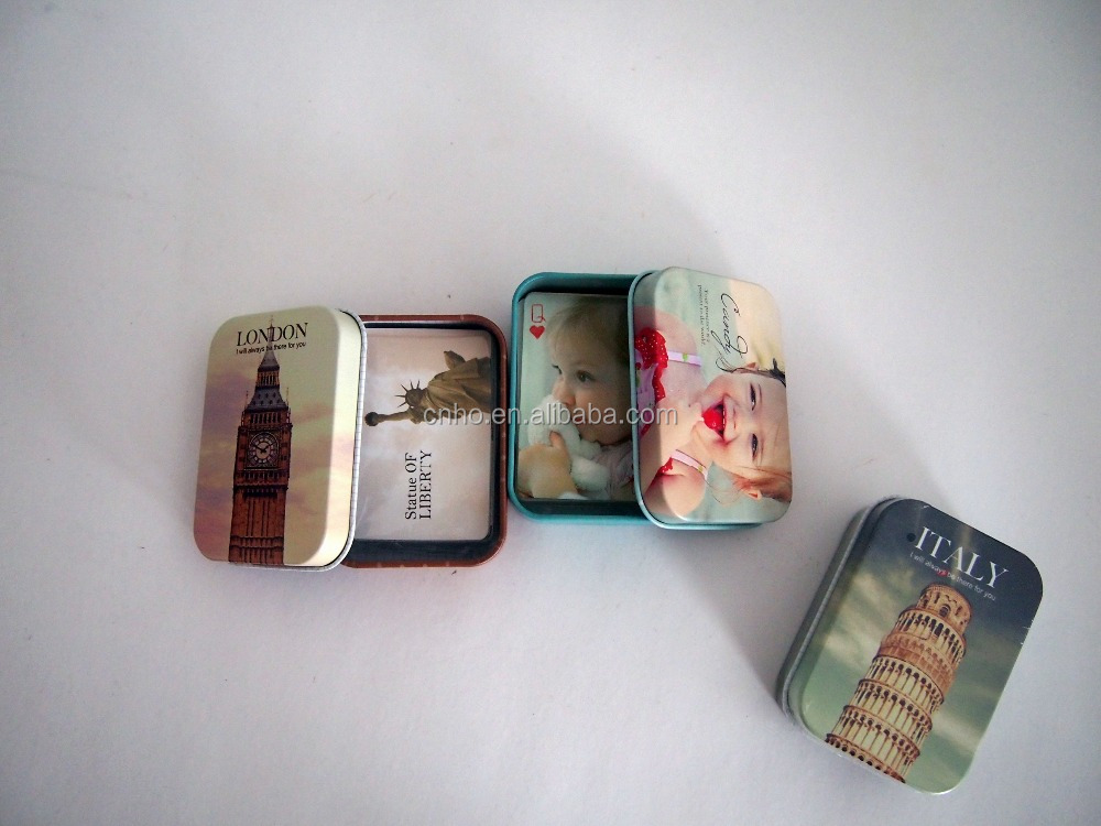 Custom Mini Playing Cards Poker Cards In Tin Case Playing Cards