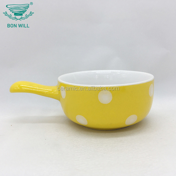 Wholesale embossed restaurant and home use ceramic sauce pan