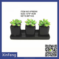potted artificial mini succulent plant for home decorations