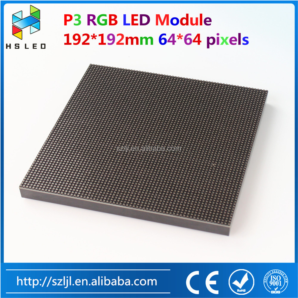 indoor p3 digital led video display led module 64x64 Dots