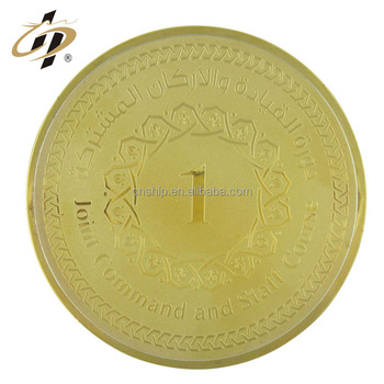 Wholesale cheap custom gold metal coin