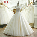 SL-209 High Quality Lace Appliques Bridal Gown Vestido de festa Turkish Wedding Dress