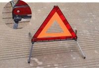 Triangle Warning For Traffic Warning On Roadside